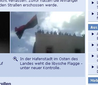 Tagesschau Screenshot of 22.02.2011