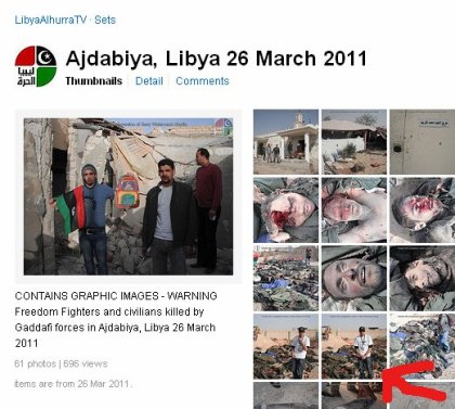 Screenshot: Victims of Ajdabiya NATO massacre presented by LibyaAlhurraTV