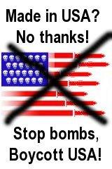 Stop Bombs, Boycott USA
