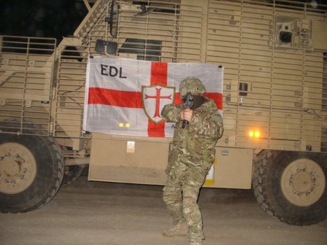 EDL crusader fighting in Afghanistan for Obama in 2011