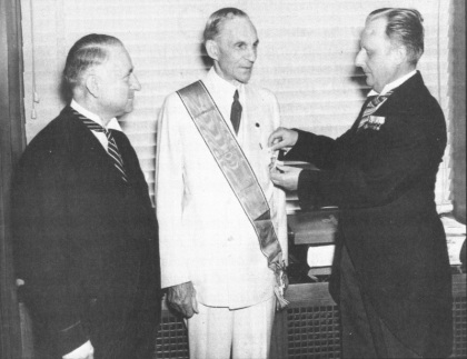 Henry Ford proudly receives Nazi Germany's Adlerorden 1938