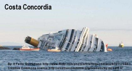 Kreuzfahrtschiff Costa Concordia gekentert
