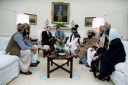 Reagan empfängt afghanische Gotteskrieger