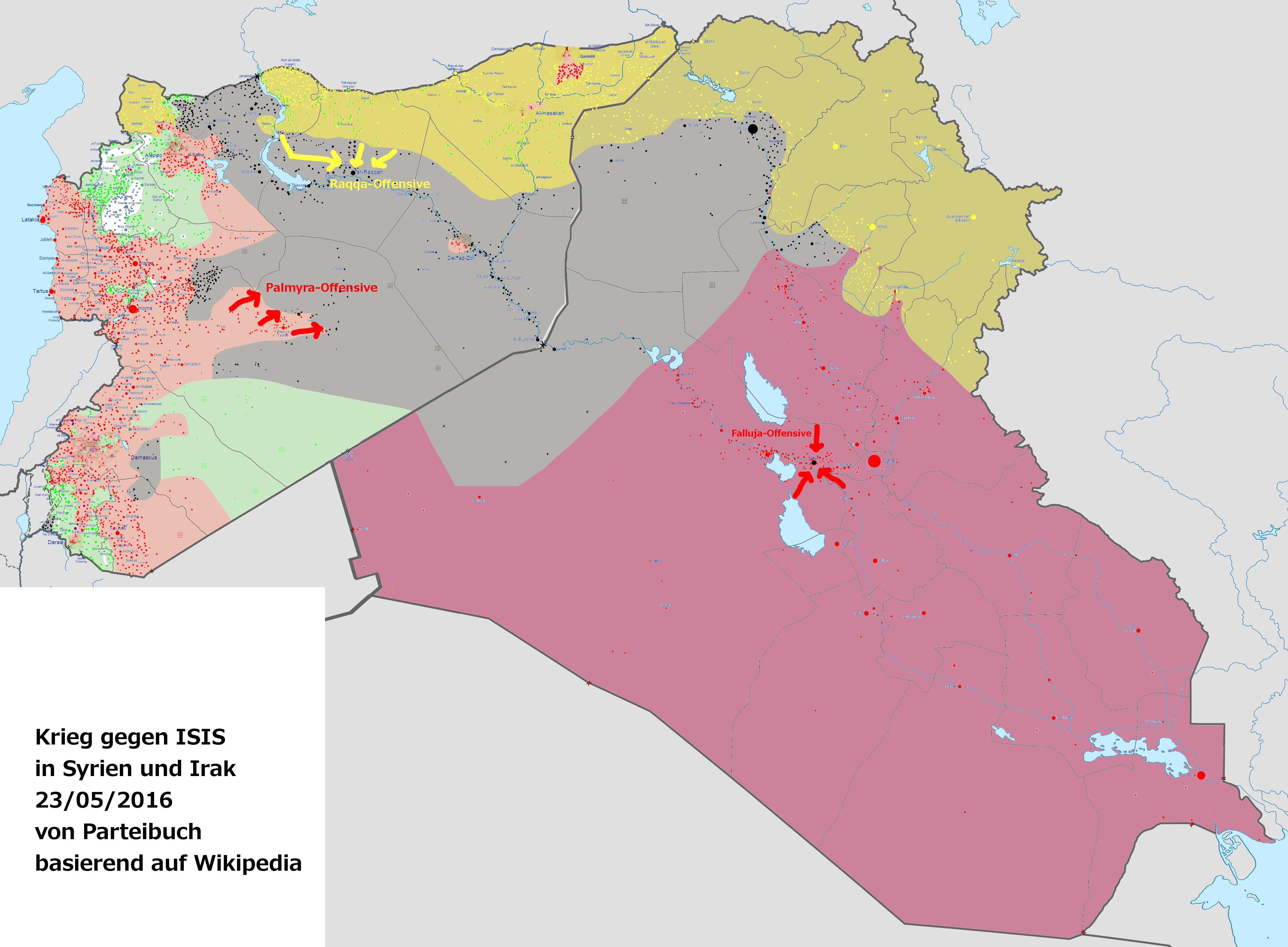 Syrien Karte 2016.Ende Von Isis Rückt Näher Ein Parteibuch