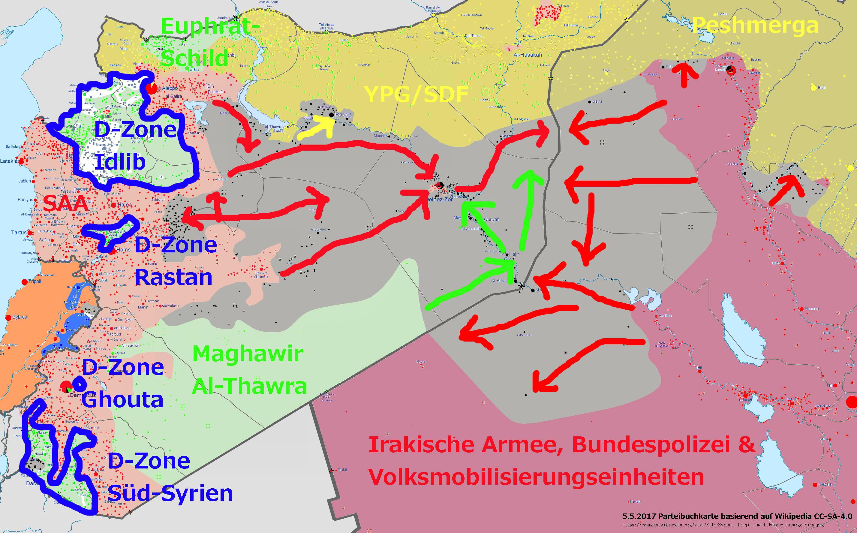 Syrien Karte Krieg.Wie Die Kriege In Syrien Und Im Irak Zum Ende Kommen Können Ein
