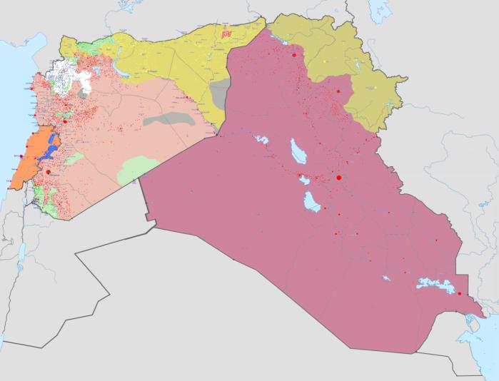 Syrien Karte Aktuell 2018.Der Krieg Um Syrien Und Irak Nach Einem Jahr Trump Ein Parteibuch